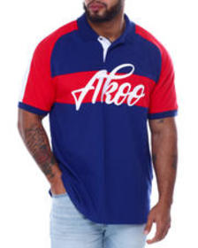 AKOO victorious short sleeve polo (b&t)