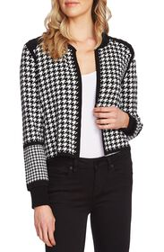 Vince Camuto L/S HOUNDSTOOTH KISS FRT SWEAT