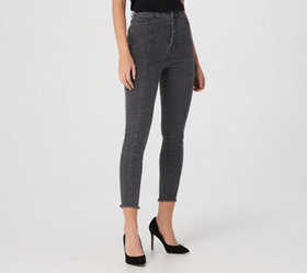 Du Jour Petite High Rise Jeggings with Faux Button
