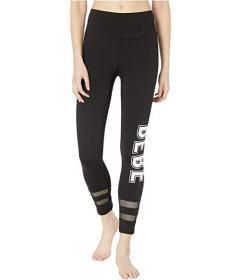 Bebe Sport Double Stripe Ankle Leggings