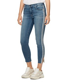 Sanctuary - Cropped Skinny Jeans in Bluebird Racer