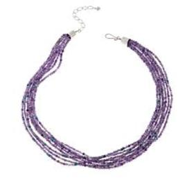 Jay King 8-Strand Amethyst and Turquoise Bead Neck