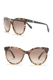 Fossil 54mm Round Sunglasses
