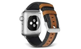 Genuine Leather Hybrid Canvas Watch Band Strap for
