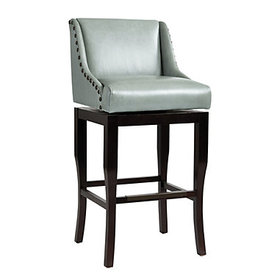 Marcello Leather Barstool - Mineral
