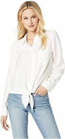 Vince Camuto Flowy Rumple Tie-Front Button Down Sh