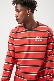 Forever21 Be Kind Graphic Striped Tee