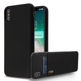 MYBAT For Apple iPhone XS Max Black Wallet Hard TP