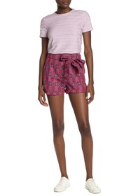 Tularosa Claire Embroidered Tie Waist Shorts