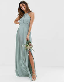 TFNC bridesmaid exclusive pleated maxi dress in sa