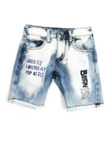 Born Fly live fly washed denim shorts (4-7)