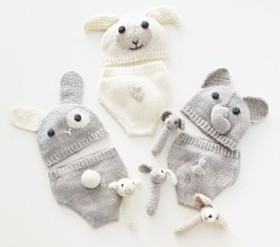 Pottery Barn Nursery Knit Hat and Diaper Covers