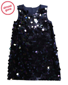 MISS MONA MOUSE Girls All Over Sequin Shift Dress