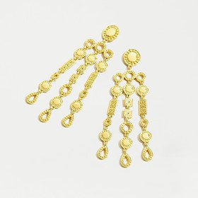 J. Crew Gold waterfall statement earrings