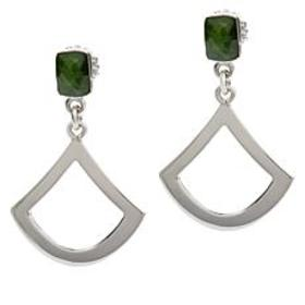 Jay King Sterling Silver Chrome Diopside Open Drop