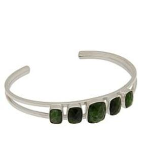 Jay King Sterling Silver Chrome Diopside 5-Stone C
