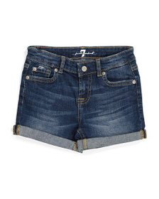 7 FOR ALL MANKIND Little Girls Roll Cuff Stretch D