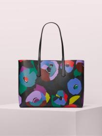 molly floral collage large tote