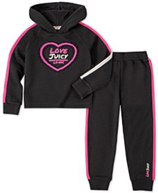 Toddler Girls 2-Pc. Striped Hoodie & Jogger Pants