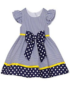 Toddler Girls Polka Dots & Stripes Dress