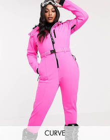 ASOS 4505 Curve ski fitted belted ski suit with fa