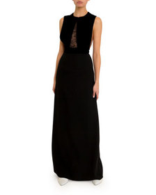 Givenchy Cady Lace-Trim Gown