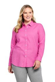 Lands End Women's Plus Size Cotton Flannel Shirt