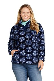 Lands End Women's Plus Size Print Softest Fleece S