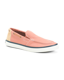 SPERRY Men's Slip on Washed Canvas Shoe