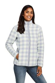 Lands End Women's Print Cozy Sherpa Fleece Jacket