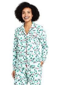 Lands End Women's Long Sleeve Print Flannel Pajama