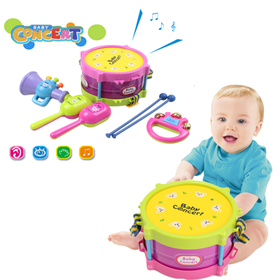 On Clearance 5Pcs Baby Roll Drum Musical Instrumen
