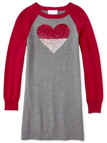The Children's Place Girls 4-16 Flip Sequin Heart
