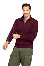 Lands End Men's Bedford Rib Quarter Zip Sweater
