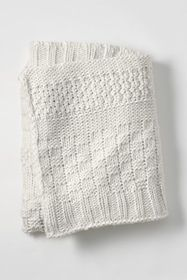 Lands End Mix Knit Throw Blanket