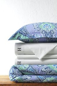 Lands End Supima Cotton Percale Printed Duvet Cove