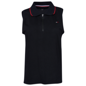 Tommy Hilfiger Sleeveless Zip Up Polo