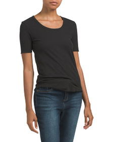 7 FOR ALL MANKIND Short Sleeve U-neck Tee