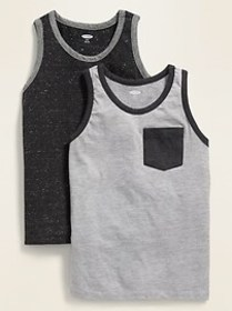 Relaxed Pocket Tank Top 2-Pack for Boys