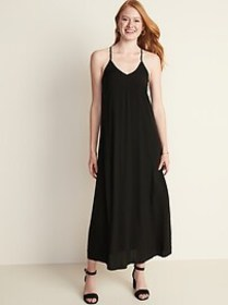 Sleeveless V-Neck Maxi Shift Dress for Women