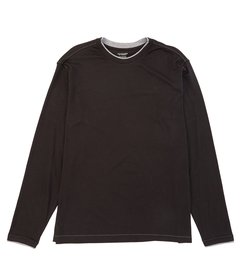Roundtree & Yorke Big & Tall Long-Sleeve Double Ne