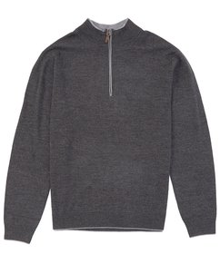 Hart Schaffner Marx Quarter Zip Merino Wool Sweate