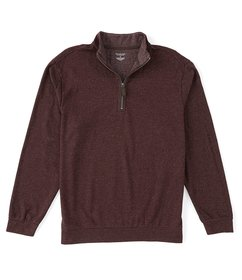 Roundtree & Yorke Long-Sleeve Quarter Zip Pullover