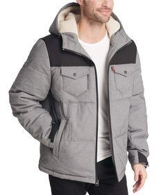 Levi's® Arctic Quilted Puffer With Sherpa Lined Ho