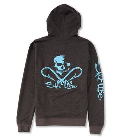 Salt Life Pullover Fleece Skull and Hooks Hoodie