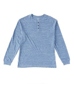 Roundtree & Yorke Soft Washed Long-Sleeve Striated