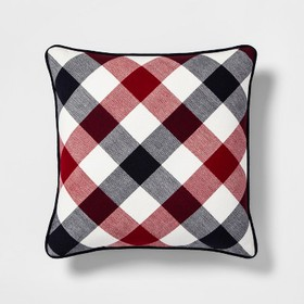 Americana Gingham Square Throw Pillow - Threshold&