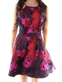 Xscape Women's Petite Floral Halter A-Line Dress