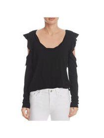 Pam & Gela Womens Twisted Cold Shoulder Pullover T