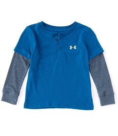 Under Armour Little Boys 2T-7 Henley Two-Fer Tee